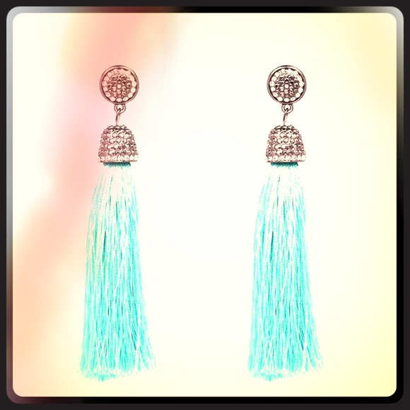 43ee62121 Suburban 2 Urban Jewelry | Boho Chc Silk Tassel Earrings W Swarovski ...